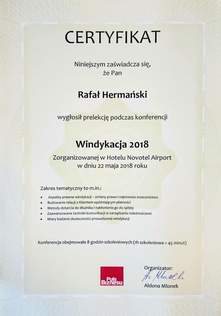 Certyfikat WINDYJACJA 201803
